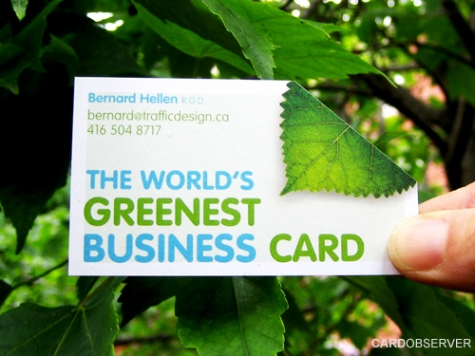 The World's Greenest Business Card
