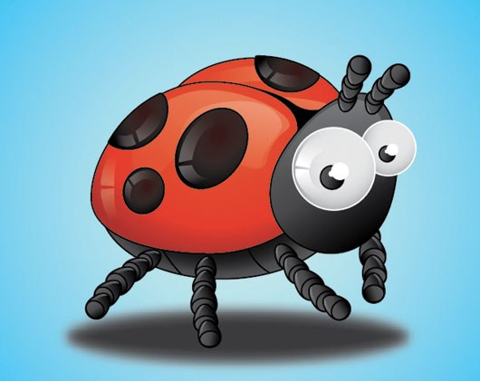Create a Lady Bug Using Adobe Illustrator
