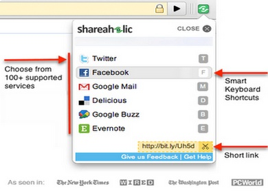 Shareholic for Google Chrome
