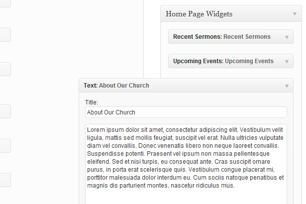 Documentation for Versatile Church WordPress Theme