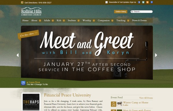 Church Website Design Rolling Hills Christian Church
