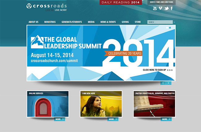church website design ideas the online visitor center linked just below the slider provides all the information that first time - Church Website Design Ideas