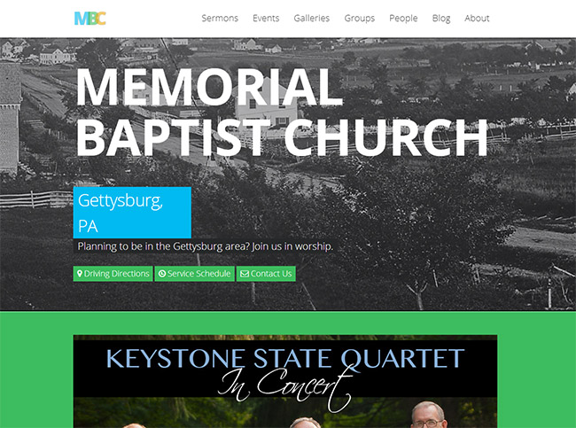 memorial baptist church - Church Website Design Ideas