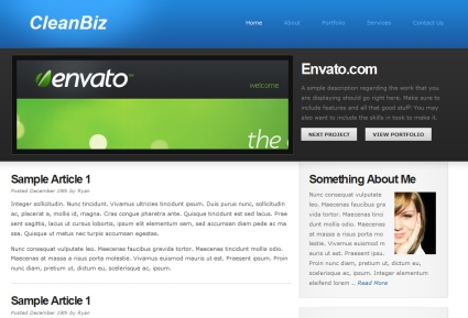 Clean Biz Theme