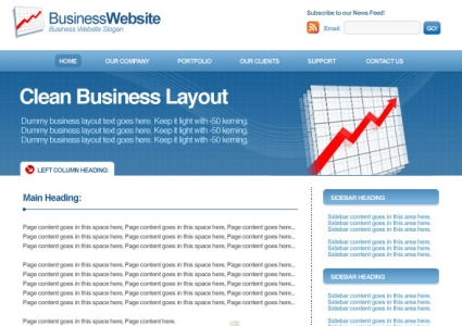 Clean business layout