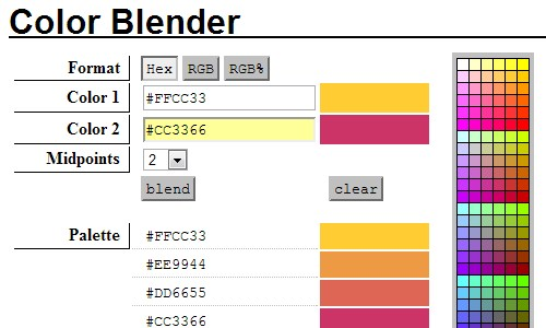 Color palette tools for designers vandelay design Color combinations numbers