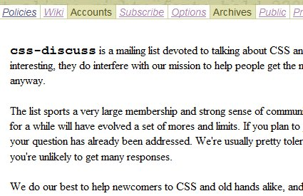 CSS-Discuss.org