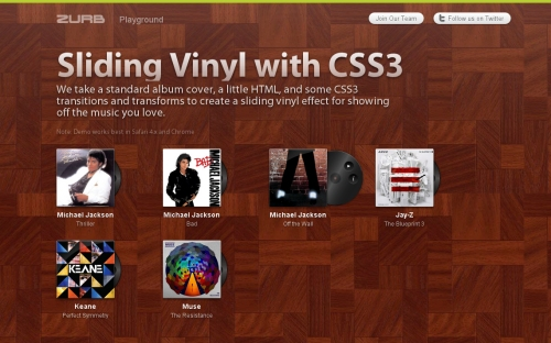 Sliding Vinyl with CSS3
