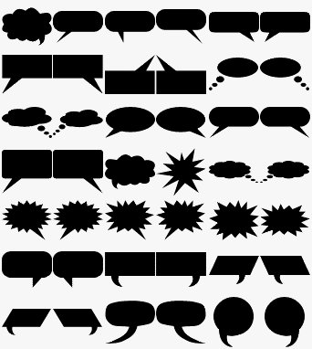 Speech Balloon Shapes