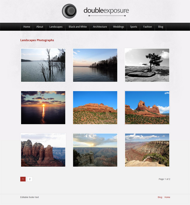 Double Exposure Photography WordPress Theme