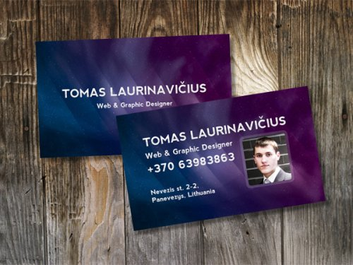 How to Make a Space-Themed Business Card in Photoshop