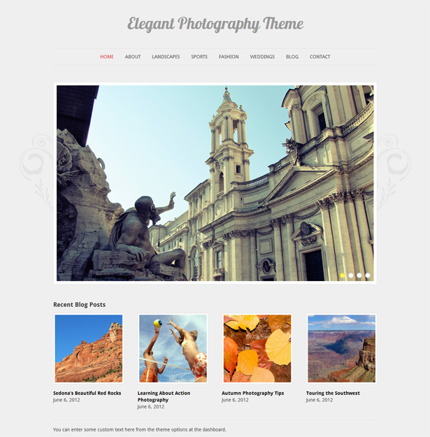 Elegant Photography WordPress Theme