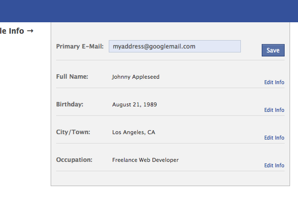 Facebook-Style Inline Profile Edit Fields with Ajax