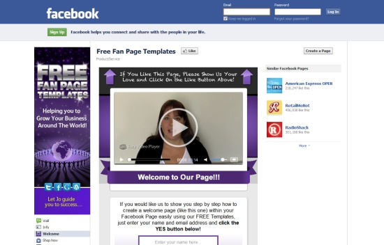 Free Fan Page Templates