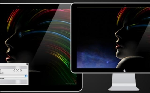 LED Cinema Display in Fireworks