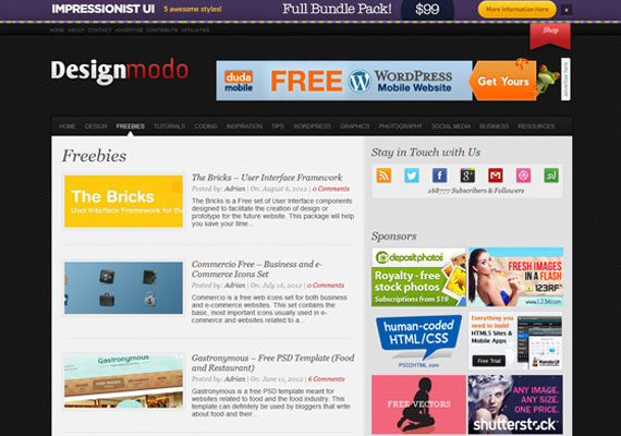 Design Blogs for Freebies