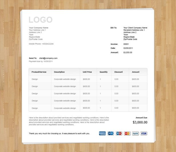 Invoice For Professional Services Template Best Photos Of