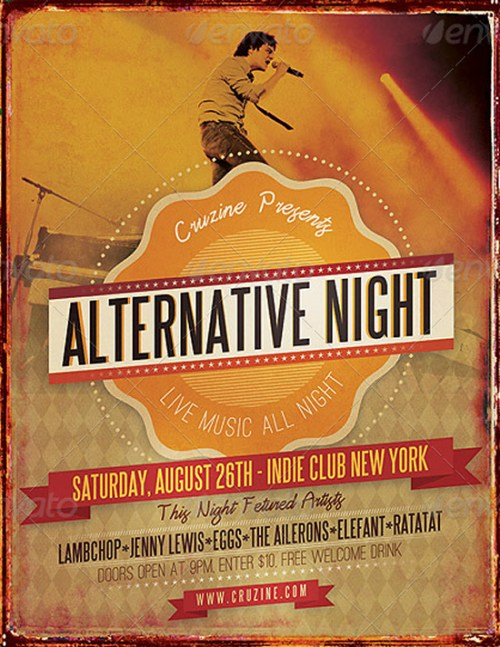 Alternative Night Music Flyer