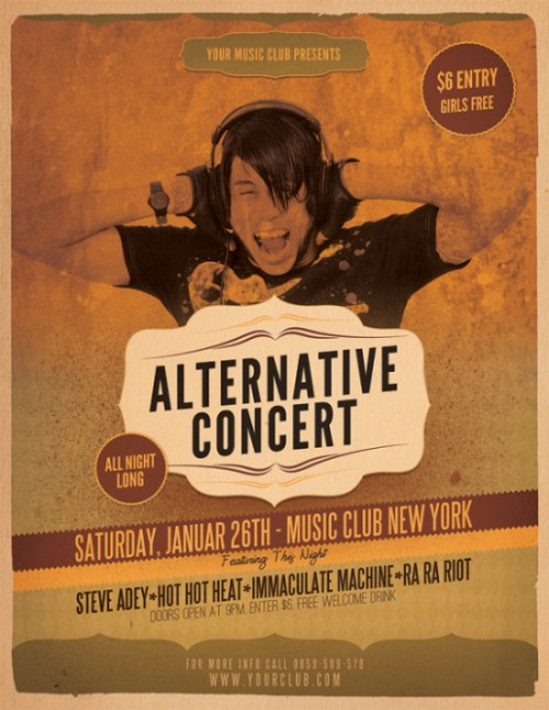 Alternative Flyer Concert Template