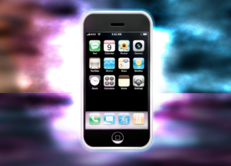 Design an Apple iPhone Advertisement in GIMP