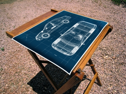 Create a Realistic Blueprint Image from a 3D Object