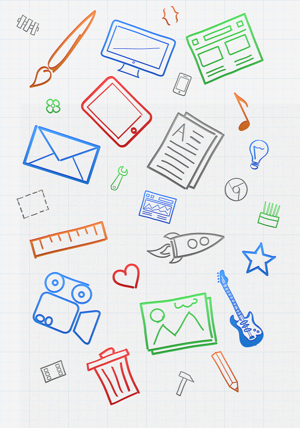 Free Hand-Drawn Icons