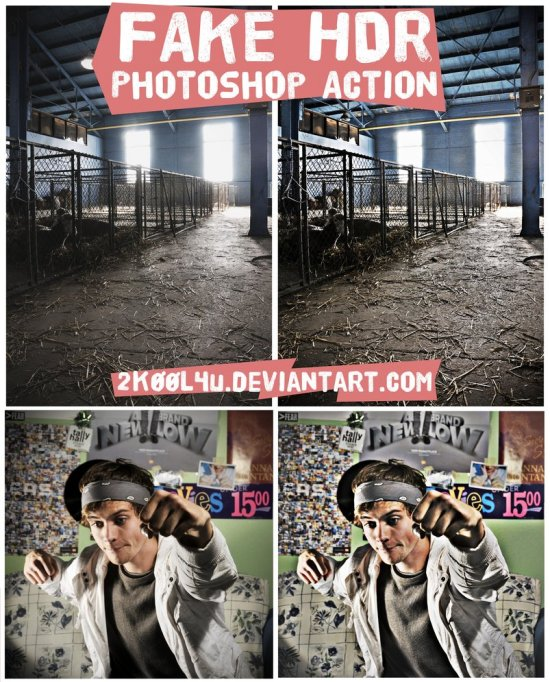 Fake HDR Photoshop Action by 2KOOL4U