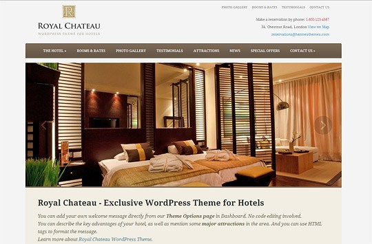 Best WordPress Hotel Themes of 2014