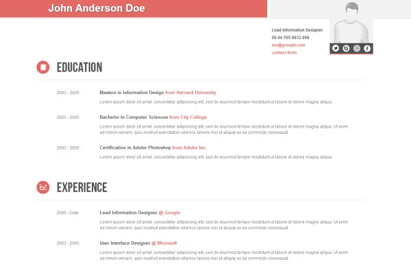 Clean and Corporate CV/Resume