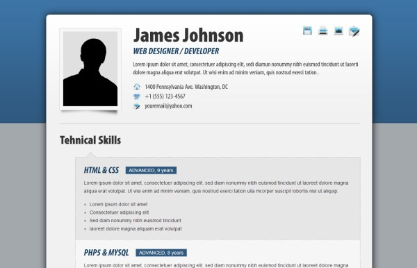html resume examples - Ideal.vistalist.co