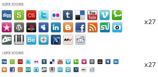 Pixel-Perfect Social Media Icons