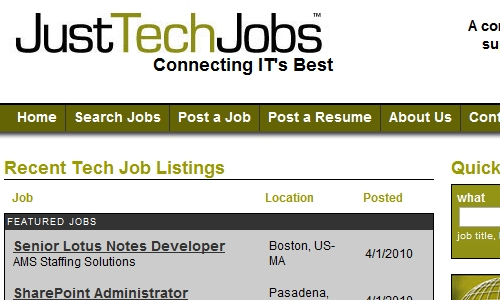 Just Tech Jobs