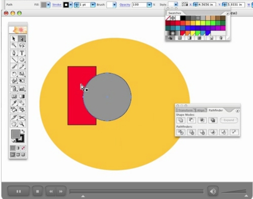 Adobe Illustrator: The Pathfinder Palette