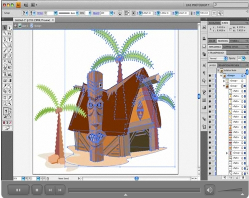 Adobe Illustrator CS4: Isolation Mode