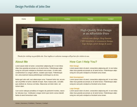 Design a Clean Portfolio Site in Photoshop