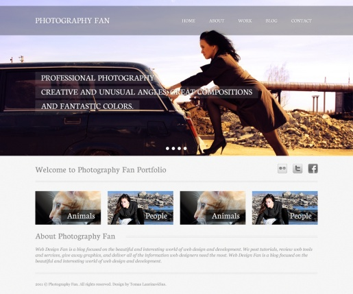 Create a Photography Portfolio Web Design