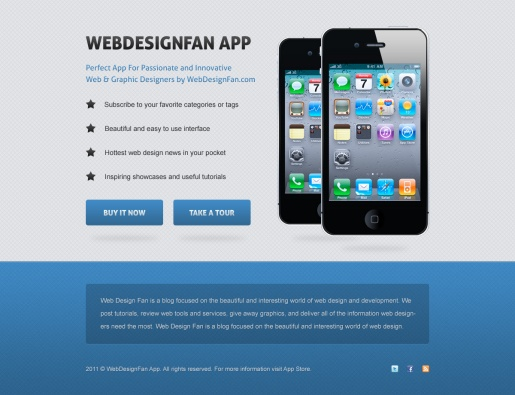 Design a Clean Mobile App Website in Photoshop