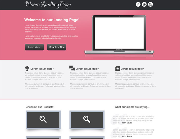 Design a Clean Landing Page Template in Photoshop