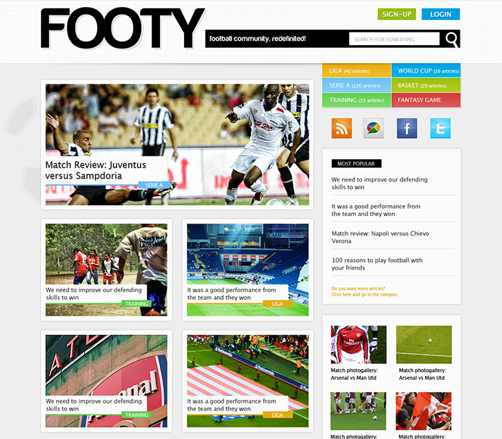Design a Clean Sports Web Layout in Magazine Style with Photoshop