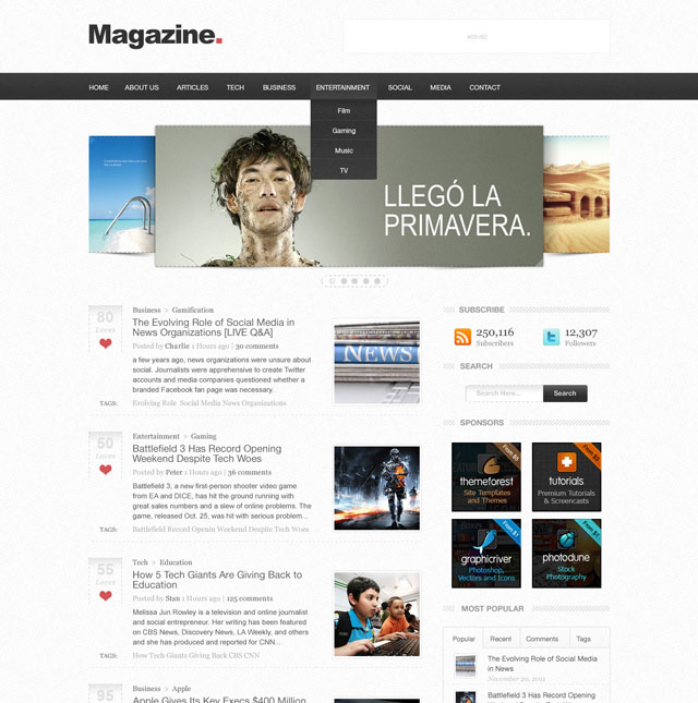 Design a Professional Blog Layout in Photoshop
