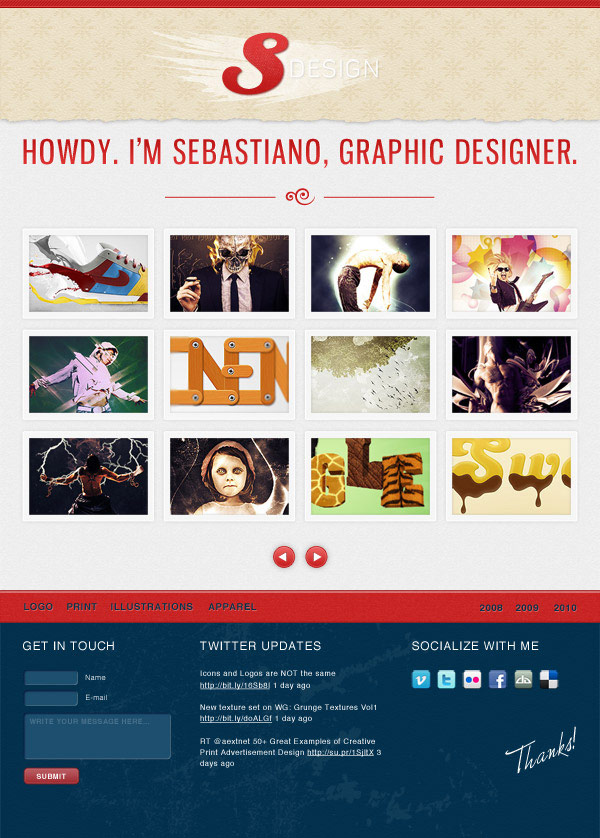 Make a Stylishly Elegant Portfolio Web Design in Photoshop