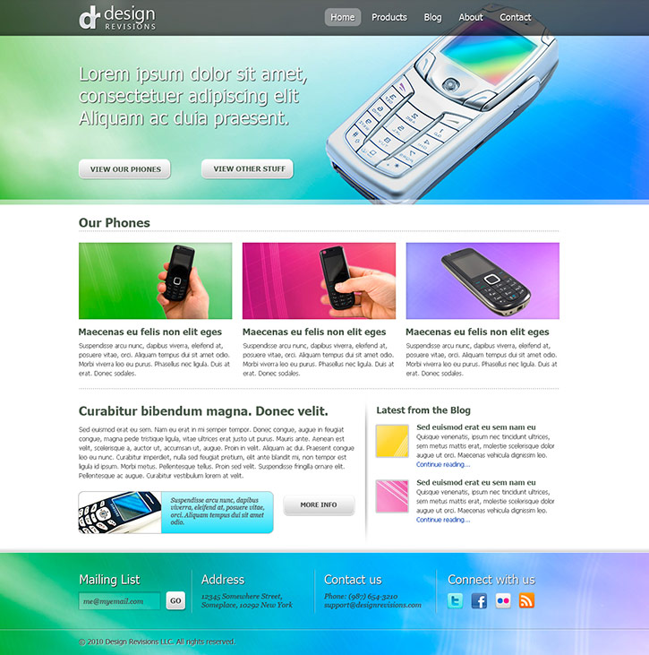 Create a Vibrant Professional Web Design in Photoshop