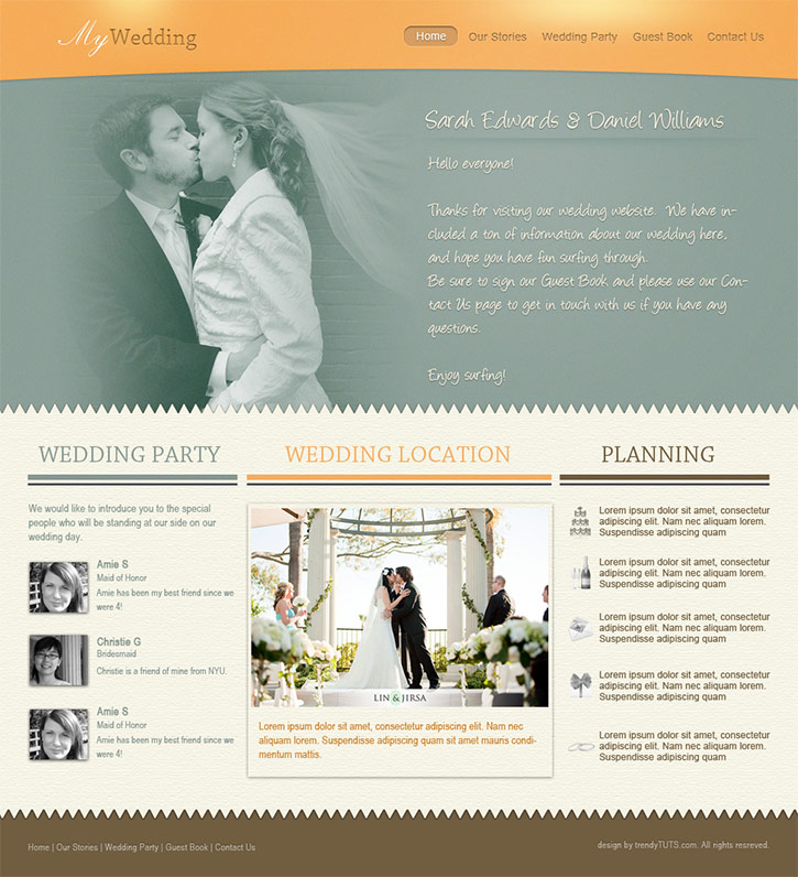 How to Design a Wedding Template in Photoshop