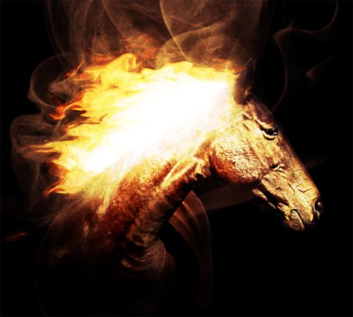 Painting with Fire Using Photoshop's Liquify Filter