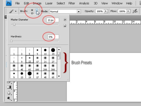 Photoshop's Brush Tool - Basic Guide