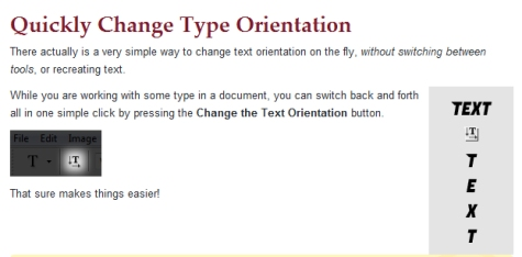 Tip: How to Change Text Orientation