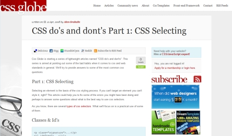 CSS Do's and Don'ts Part 1: CSS Selecting