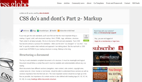 CSS Do's and Don'ts Part 2: Markup
