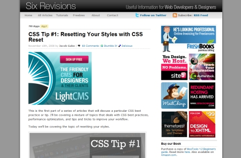 Resetting Your Styles with CSS Reset