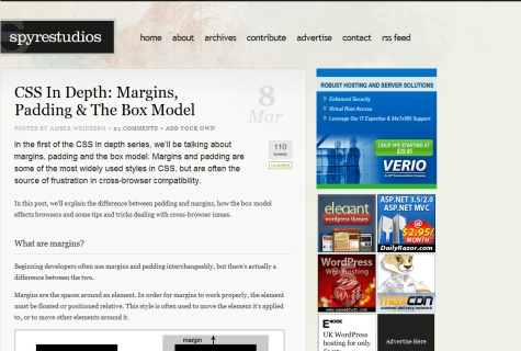 CSS In Depth: Margins, Padding & The Box Model